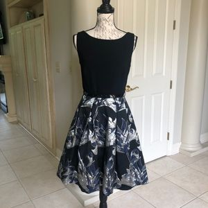 Sleeveless A- Line Belted Low Back Lined Dress